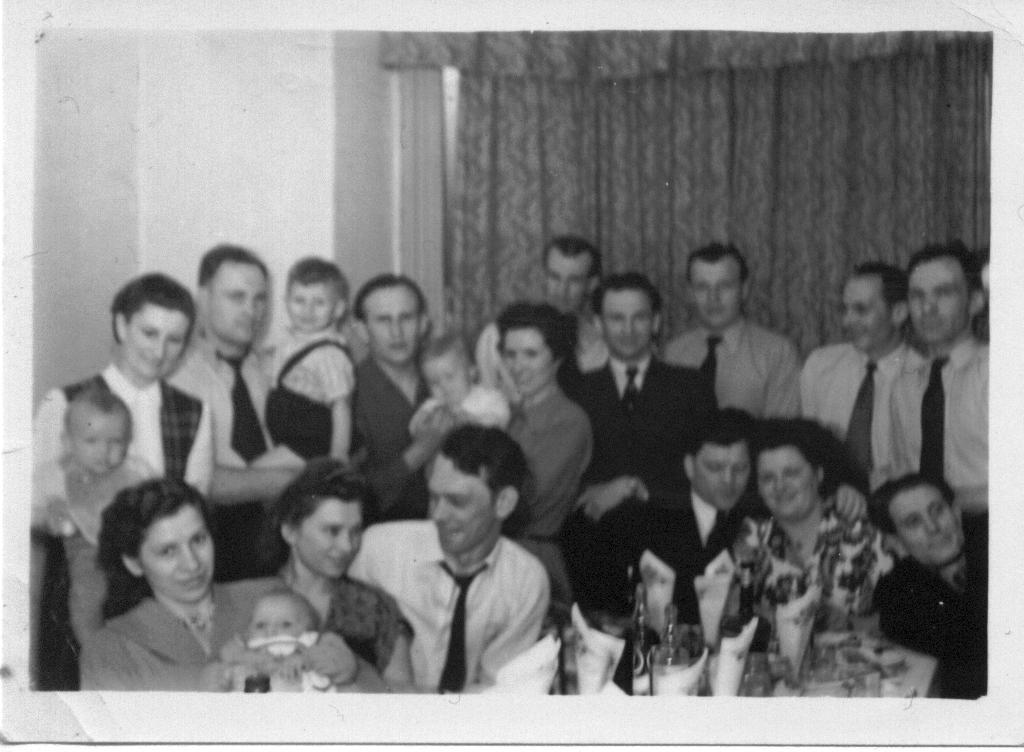Some Lith Club members in the Lounge, 1952.